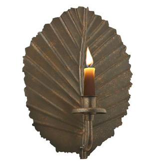 8'' Wide Nicotiana Leaf Candle Holder Wall Sconce (96|121102)