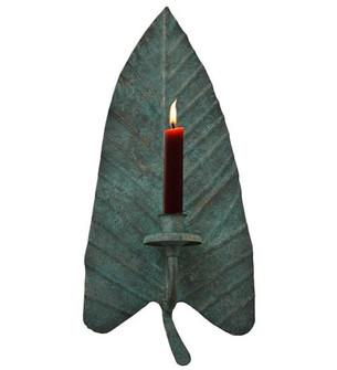7''W Arum Leaf Wall Candle Holder (96|121493)