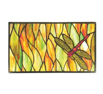"""8""""W X 14""""H Tiffany Dragonfly Stained Glass Window (96 37511)"""