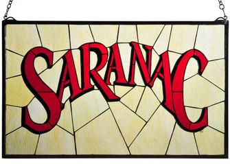 """28""""W X 17""""H Saranac Stained Glass Window (96 113371)"""