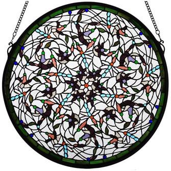 "22""W X 22""H Dragonfly Stained Glass Window (96 98951)"