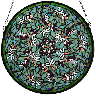 "22""W X 22""H Dragonfly Stained Glass Window (96 98956)"