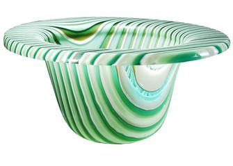 12''W Metro Fusion Peppermint Glass Bowl (96|113018)
