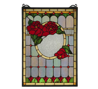 """14""""W X 20""""H Morgan Rose Stained Glass Window (96 119443)"""