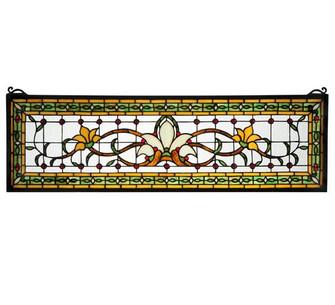 """33""""W X 10""""H Fairytale Transom Stained Glass Window (96 119444)"""