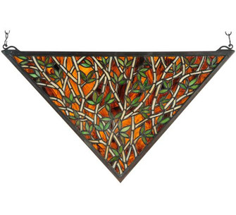 """21.5""""W X 12""""H Bamboo Stained Glass Window (96 38472)"""