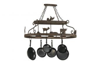 46''L Barn Animals W/Downlights Pot Rack (96 150295)