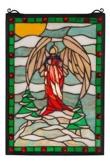 12W X 17H Winter Angel Stained Glass Window (96|38118)