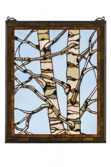 24''W X 19''H Birch Tree in Winter Stained Glass Window (96|175993)
