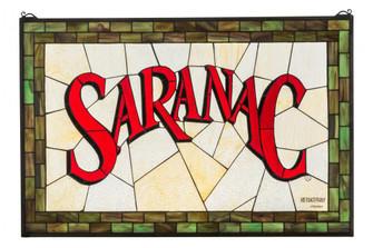 """32""""W X 21""""H Saranac Stained Glass Window image"""