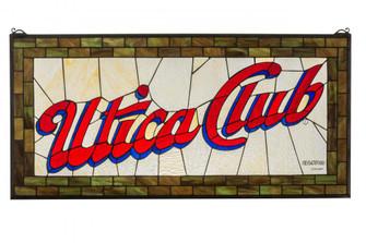 """35""""W X 17""""H Utica Club Stained Glass Window (96 169645)"""