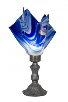 14 inches  High Handkerchief Curacao Swirl Accent Lamp (176784)