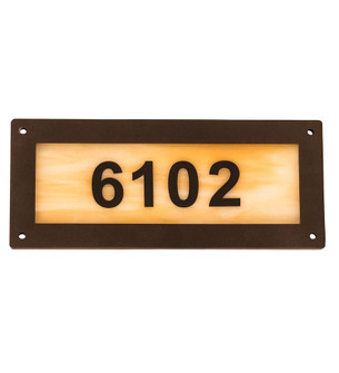 9.5 inches  Wide Personalized Number Plate (195165)