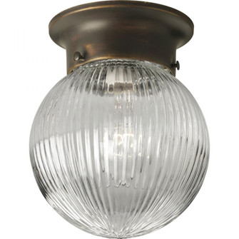 One-Light Glass Globe 6-3/8'' Close-to-Ceiling (149|P3599-20)