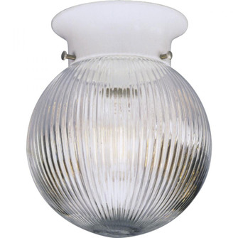 One-Light Glass Globe 6-3/8'' Close-to-Ceiling (149|P3599-30)