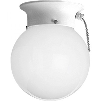 One-Light Glass Globe 6'' Close-to-Ceiling (149|P3605-30SW)