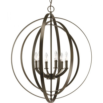 P3889-20 6-60W CAND SPHERE FOYER LANT (149|P3889-20)