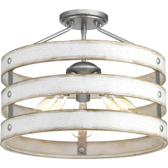 Gulliver Collection Collection Three-Light 17 inches  Semi-Flush Convertible (P350049-141)