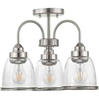 "Saluda Collection 18"" Three-Light Semi-Flush Convertible (149|P350109-009)"