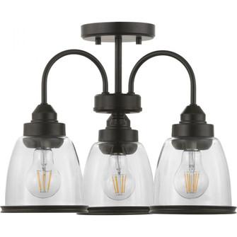 "Saluda Collection 18"" Three-Light Semi-Flush Convertible (149|P350109-020)"