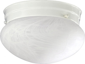 6 inches  FAUX ALAB MUSHROOM-WH (3021-6-6)