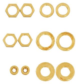 12 ASST BRASS LOCKNUTS (27 S70/153)