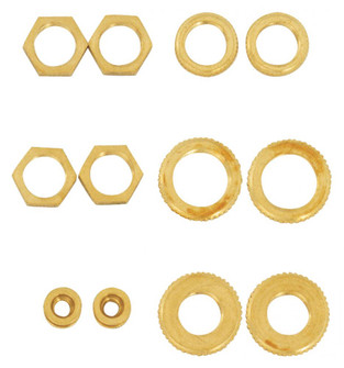 12 ASST BRASS LOCKNUTS (27|S70/153)