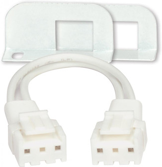 """Fixture Module Connector; 2 Ends; 3"""" Wire; Includes 2 Metal Brackets For Motivation LED Module image"""
