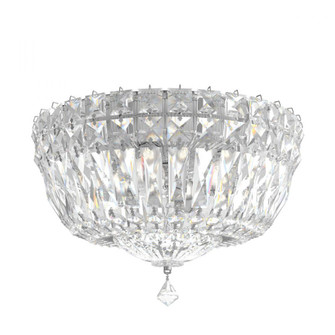 Petit Crystal Deluxe 4 Light Traditional Flush in Polished Silver with Clear Gemcut Crystal (168|5891-40M)