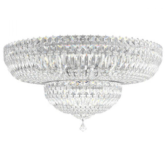 Petit Crystal Deluxe 13 Light Traditional Semi-flush in Polished Silver with Clear Gemcut Crystal (168|5895-40M)
