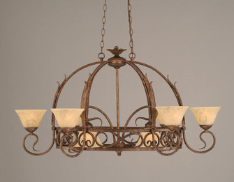Eight Light Bronze Italian Marble Glass Pot Rack (418|216-BRZ-508)
