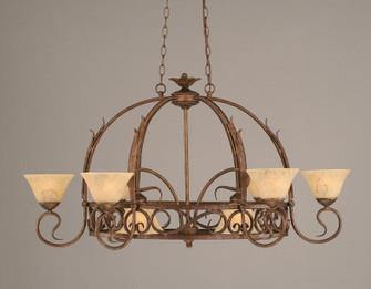 Eight Light Bronze Italian Marble Glass Pot Rack (418 216-BRZ-508)