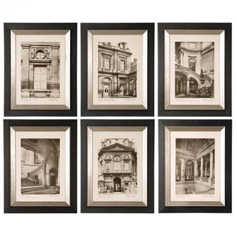 Uttermost Paris Scene Framed Art Set/6 (85 33430)