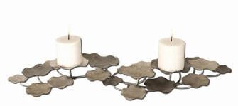 Uttermost Lying Lotus Metal Candleholders (85|17079)