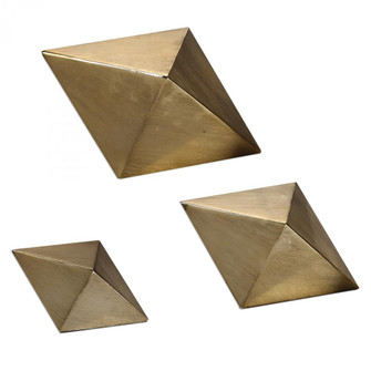 Uttermost Rhombus Champagne Accents, S/3 (85|20007)