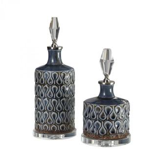 Uttermost Varuna Cobalt Blue Bottles S/2 (85|18886)