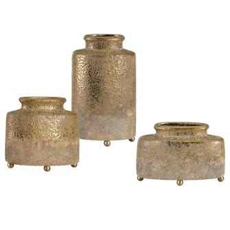 Uttermost Kallie Metallic Golden Vessels S/3 (85|18924)