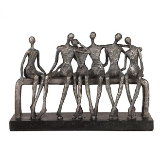 Uttermost Camaraderie Aged Silver Figurine (85|18991)