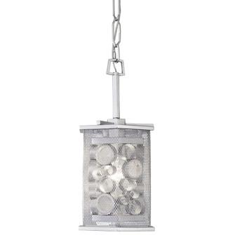 Fascination 1-Lt Hex Mini Pendant - Metallic Silver (158|293M01MS)