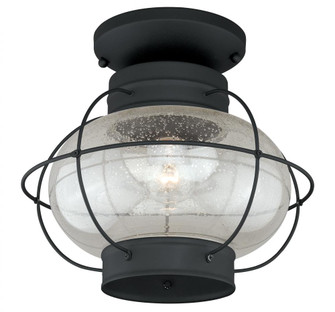 Chatham 13-in Outdoor Semi Flush Mount Ceiling Light Textured Black (T0144)