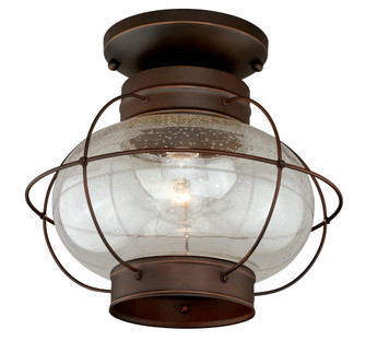 Chatham 13-in Outdoor Semi Flush Mount Ceiling Light Burnished Bronze (T0145)