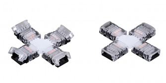 Instalux Tape Light X-Type 4-Way Snap Connector White (51|X0112)