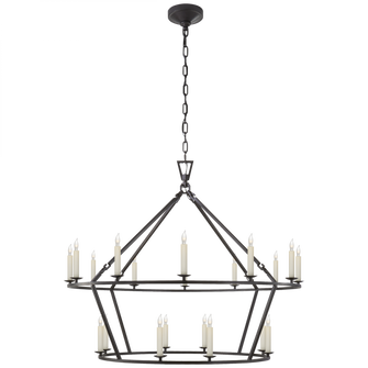 Darlana Large Two-Tiered Ring Chandelier (279|CHC 5179AI)