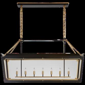 Caddo Large Linear Lantern (279|JN 5025MBK/G-CG)