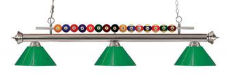 3 Light Billiard Light (276|170BN-PGR)