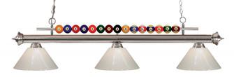 3 Light Billiard Light (276|170BN-PWH)