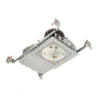 4in LEDme New Construction Housing with Light Engine Square Invisible Trim (16|HR-LED418-N-SQ30)