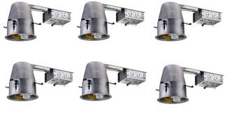 4 inch ICAT REMODEL HOUSING, 120V, GU10 SOCKET, LED GU10 8W MAX 6 PACK (758|ICAT4R-GU10LED-6PK)