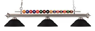 3 Light Billiard Light (276|170BN-SMB)