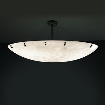 "72"" Round Semi-Flush Bowl w/ Finials (254